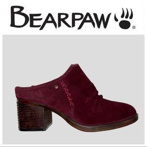 BearPaw Wine Quartz Suede Mule - Women